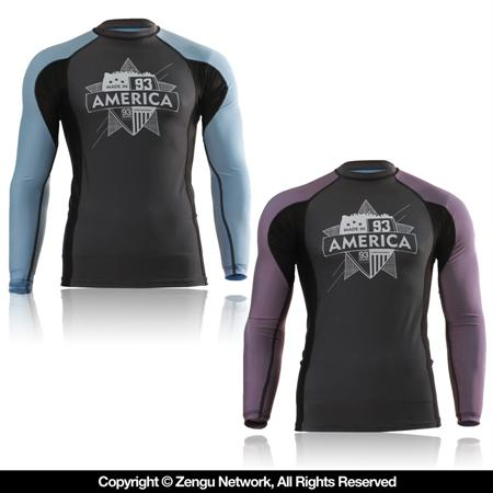 93 Brand Made in America Ranked Rashguard